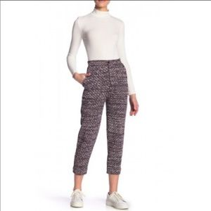 NWT Free People High Rise Knit Red Trouser Pants